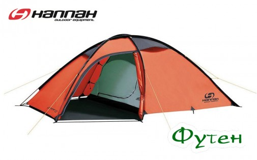 Палатка Hannah Sett 2 mandarin red