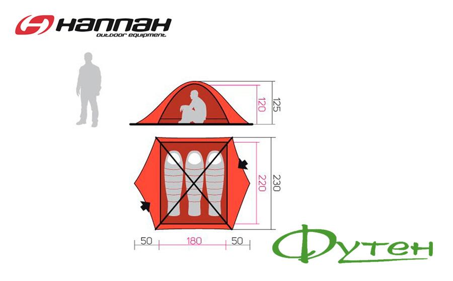 Размеры палатки Hannah SPRUCE 3