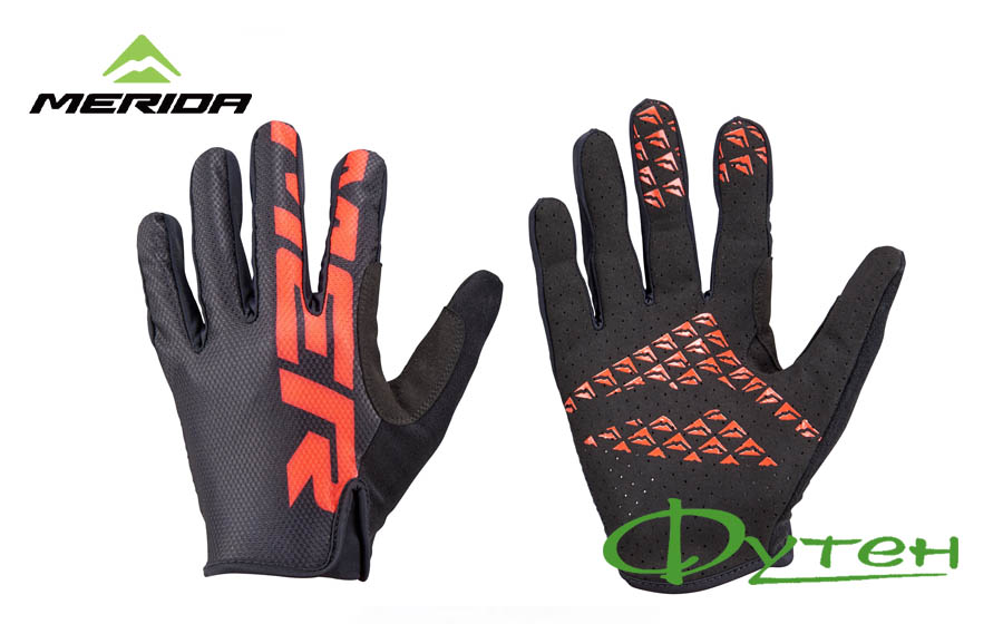 Вело перчатки Merida GLOVE TRAIL black red