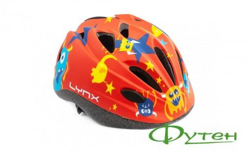 Детский шлем Lynx KIDS red monsters