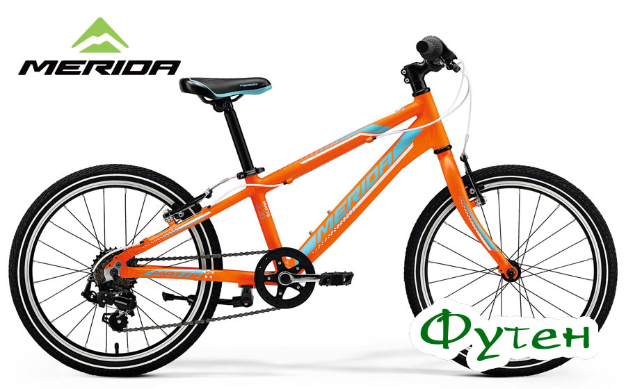 Детский велосипед Merida MATTS J 20 RACE matt orange (blue/white)