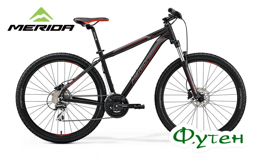 Велосипед Merida 29 BIG.NINE 20-D matt black (red/silver)