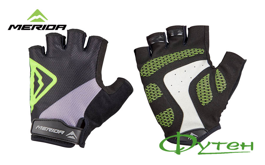 Велоперчатки Merida GLOVE CLASSIC gel black green
