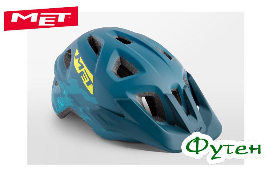 Велошлем Met ELDARpetrol blue camo