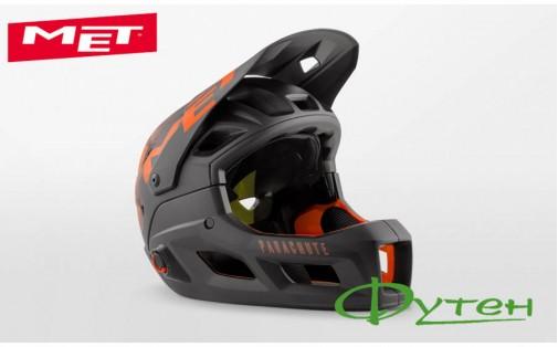 Вело шлемMet PARACHUTE MCRblack orange/matt