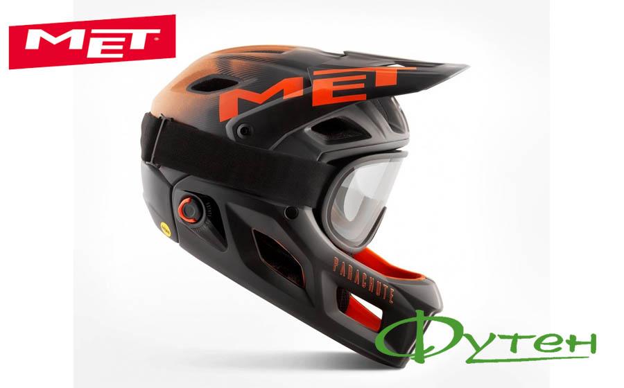 Новый шлемMet PARACHUTE MCRblack orange/matt