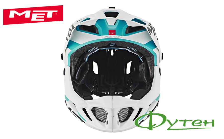 Вело шлем Met PARACHUTE white cyan