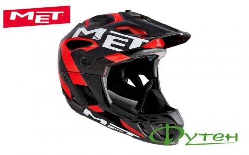 Вело шлемMet PARACHUTEblack/red