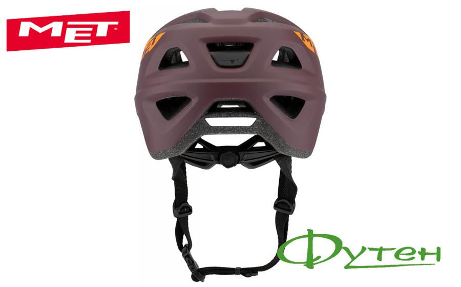Вело шлем Met ECHO burgundy