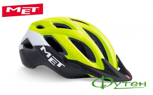Шлем Met CROSSOVER safety yellow black/matt