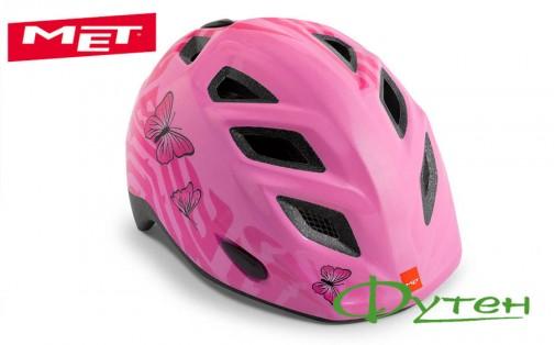 Велошлем Met ELFO pink butterflies/glossy
