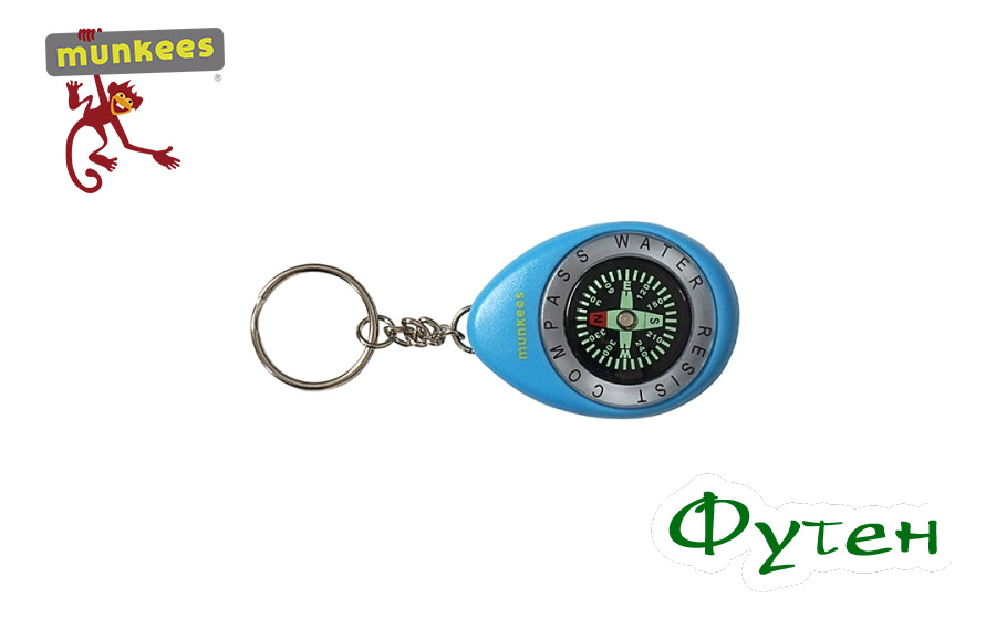 Munkees Keychain Compass
