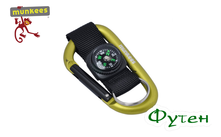 Munkees Carabiner with compass