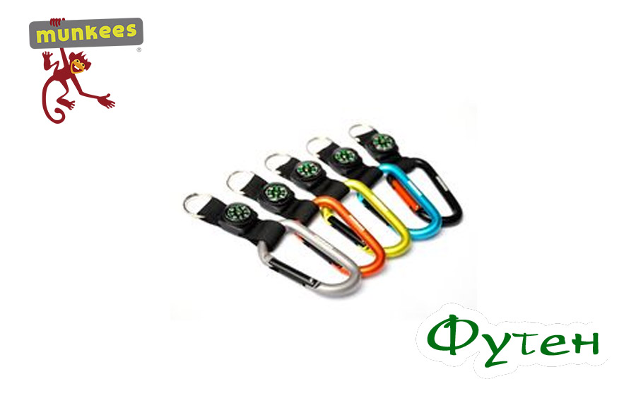 Брелок Munkees Carabiner with compass