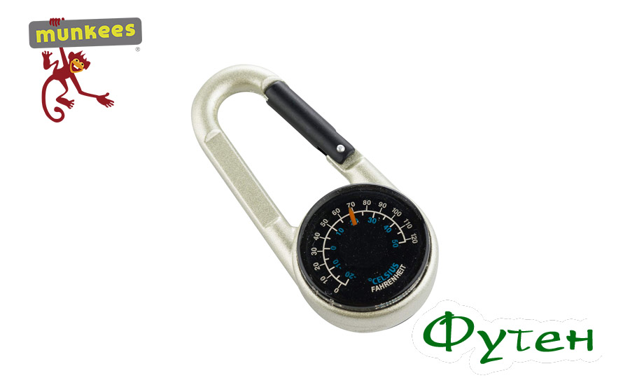 Брелок компас Munkees Compass with Thermometer