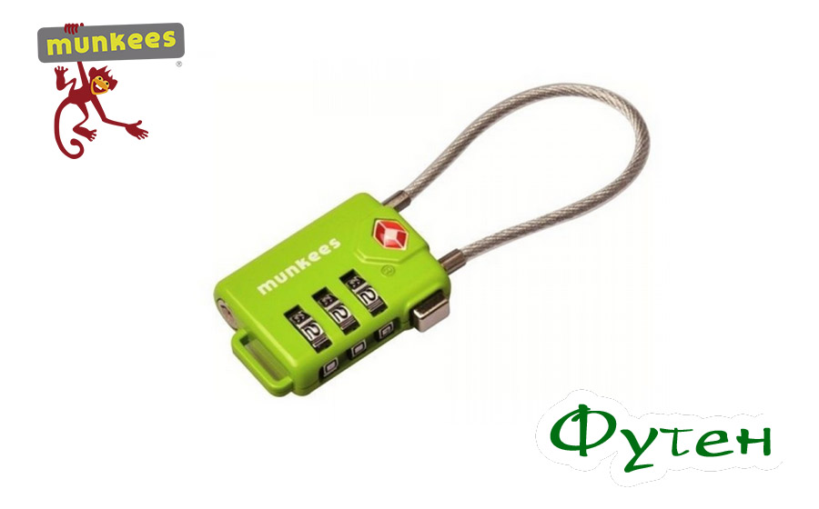 замок Munkees TSA Cable Combi Lock