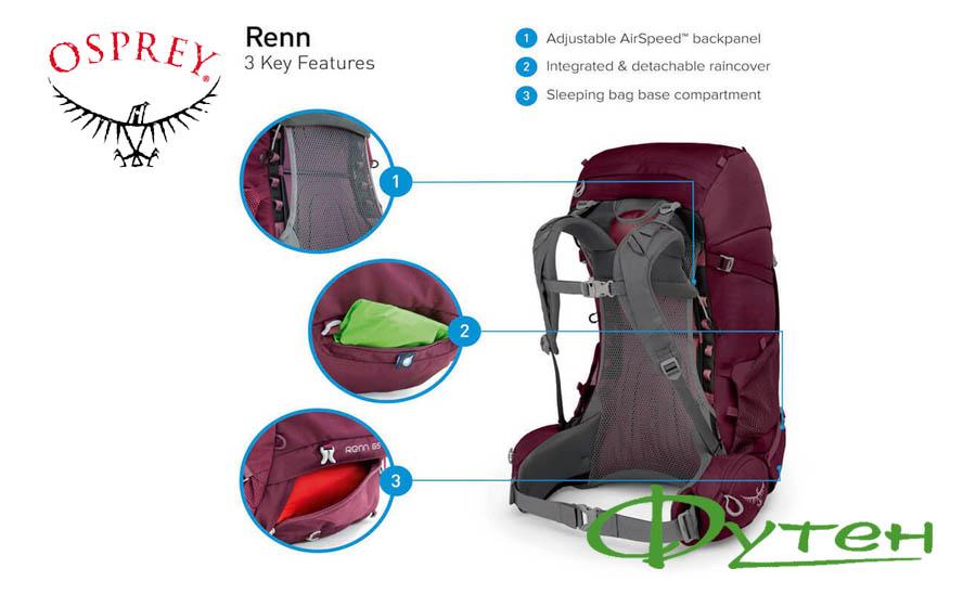 Особенности Osprey RENN 65