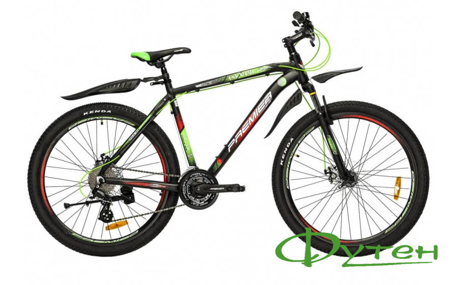 Велосипед Premier TSUNAMI 27 Disc black green