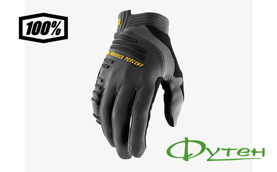 Велоперчатки Ride 100% R-CORE Glove Charcoal