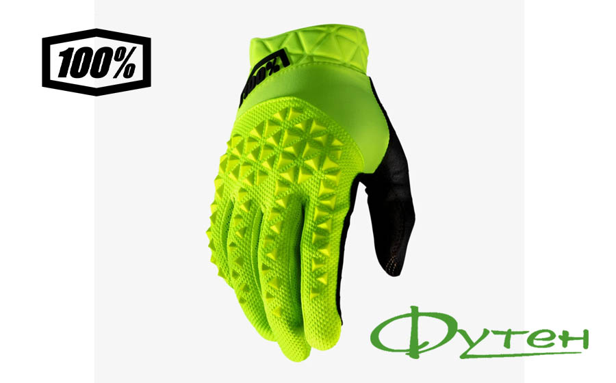 Велоперчатки Ride 100% GEOMATIC Glove Fluo Yellow