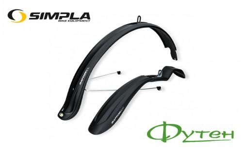Велосипедные крылья 26-28 SIMPLA Raptor SDL + stay черные