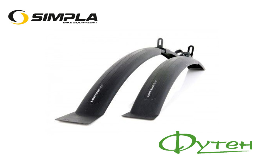 Крылья SIMPLA V-brake SDE 26 -28 черные