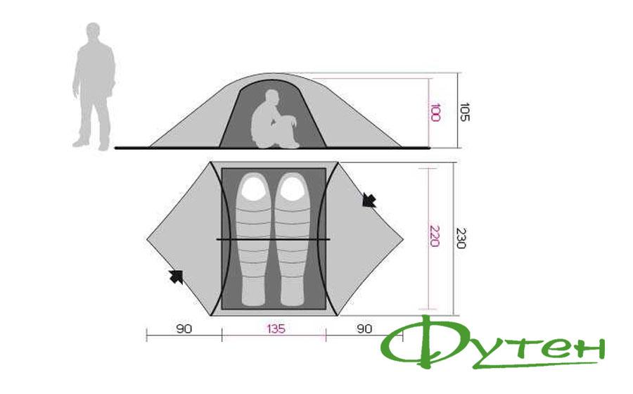 палатка двухместная Hannah EAGLE 2
