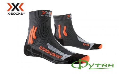 Термоноски X-socks TREK OUTDOOR LOW CUT MEN anthracite/orange