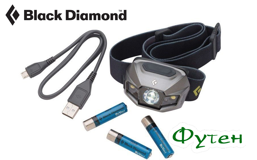 Фонарь с зарядкой Black Diamond REVOLT black