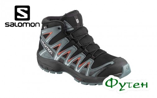 Ботинки Salomon XA PRO 3D MID CSWP J black/stormy weather/cherry