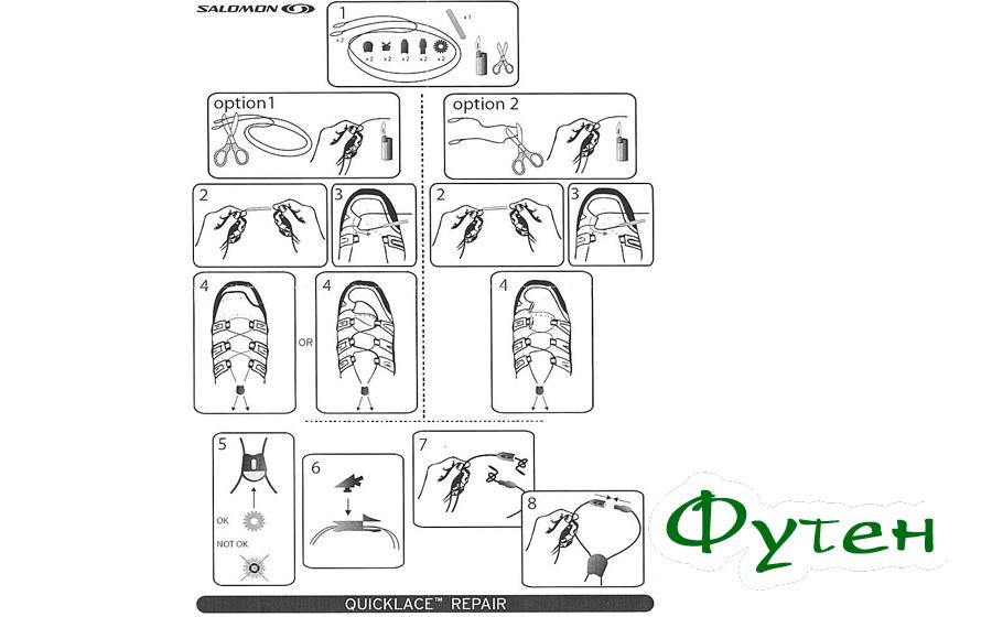 Инструкция к шнуркам Salomon