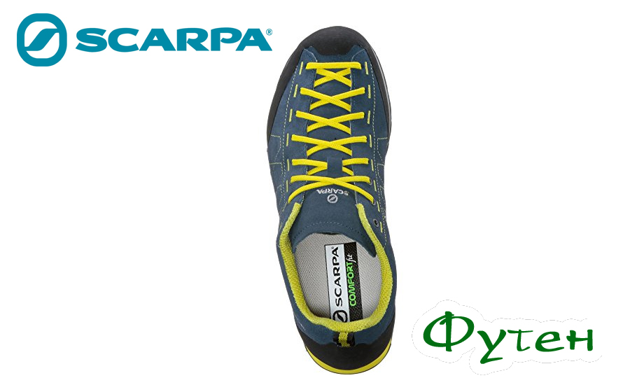 Кроссовки мужские Scarpa HIGHBALL okean-bright yellow