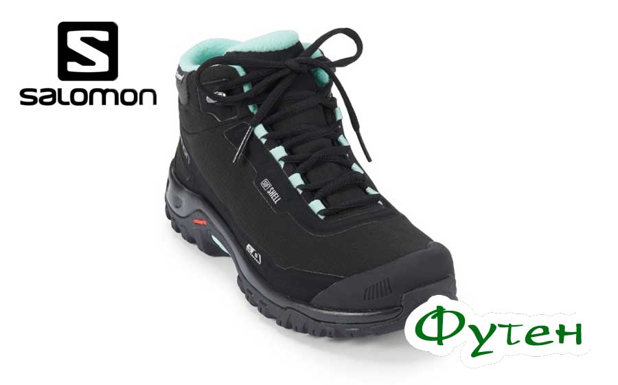 Ботинки женские Salomon SHELTER CS WP black/black/eggshell blue