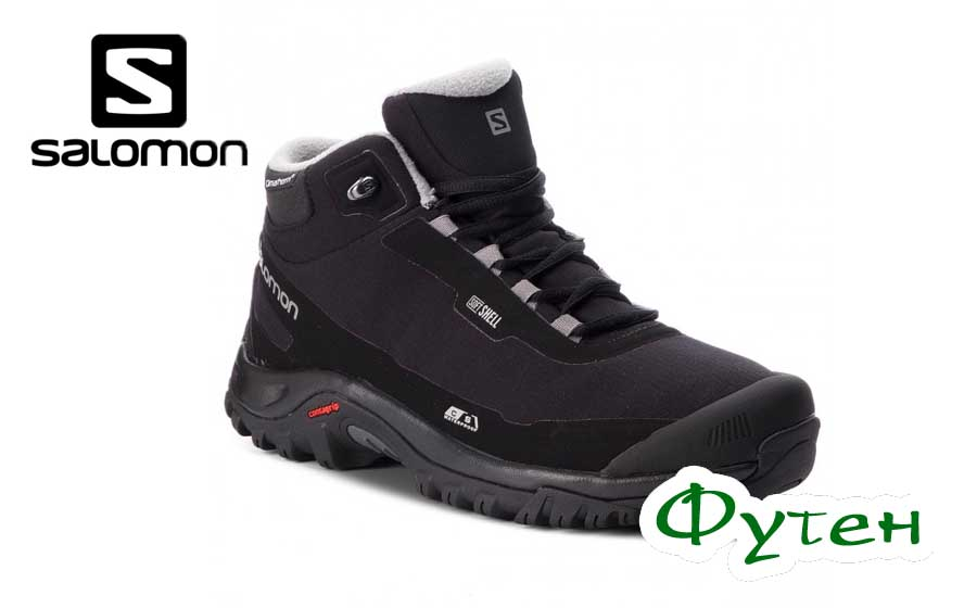 Ботинки мужские Salomon SHELTER CS WP black/black/frost gray