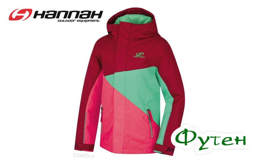 Куртка детская лыжная Hannah WALLY JR beaujolais/rouge red