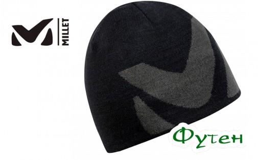 Шапка зимняя мужская Millet LOGO BEANIE noir/tarmac
