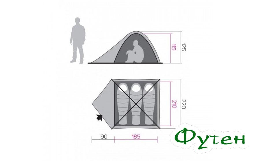 Палатка Hannah TYCOON 3 размеры