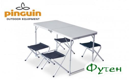 Мебель для кемпинга Pinguin SET TABLE + 4 STOOLS PETROL