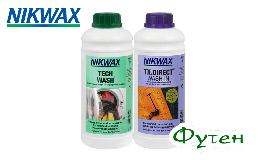 Набор NIKWAX Tech wash 1л + Tx direct 1л