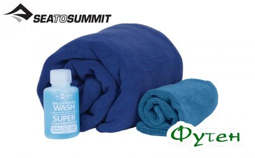 Sea to Summit TEK TOWEL WASH KITcobalt blue