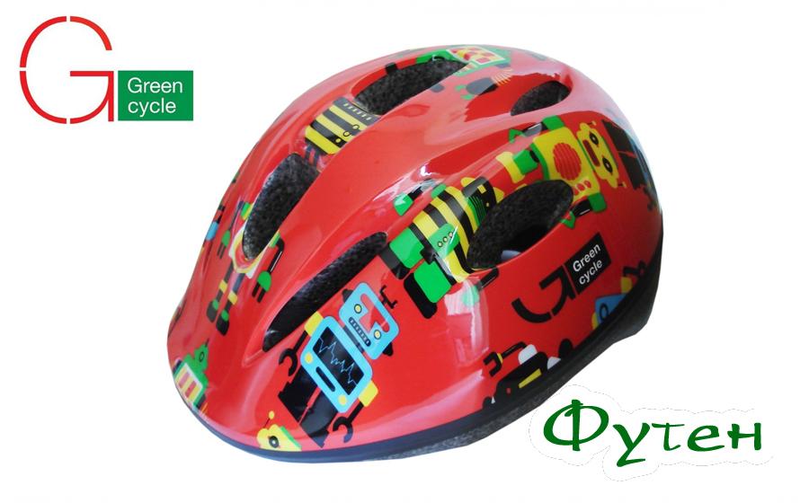 Велошлем детский Green Cycle Robots