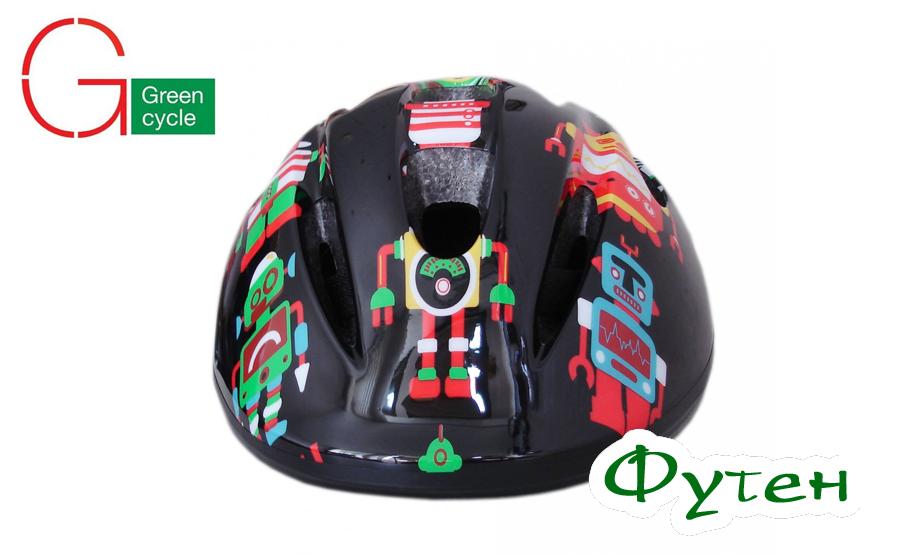 Велосипедный шлем детскийGreen Cycle Robots