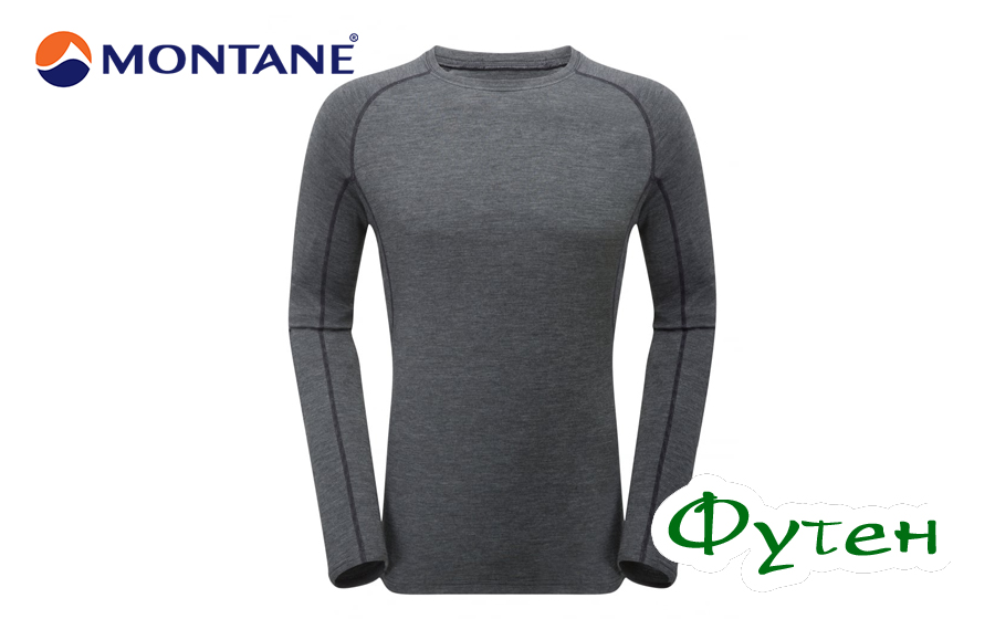 Термобелье мужское Montane PRIMINO 220 Long Sleeve T-Shirt black