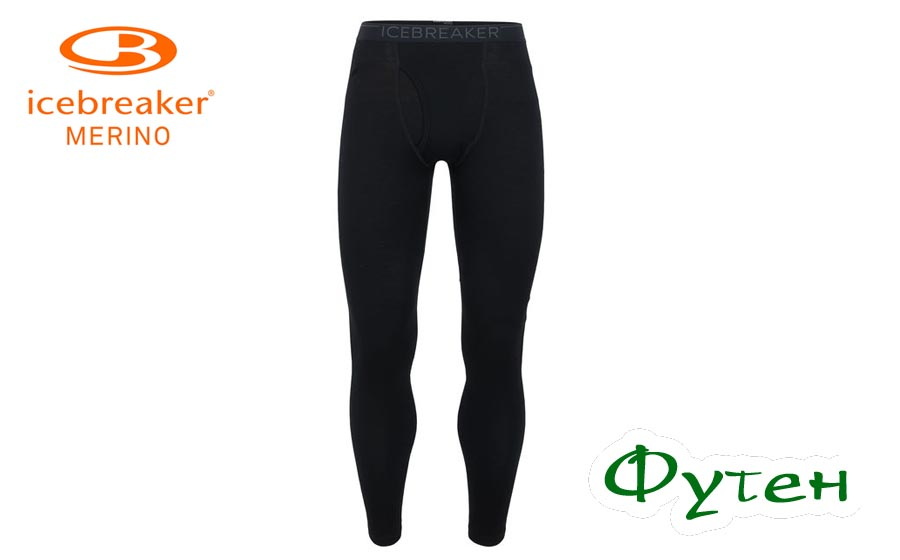 Термобелье мужское штаны Icebreaker TECH LEGGINGS MEN black/monsoon