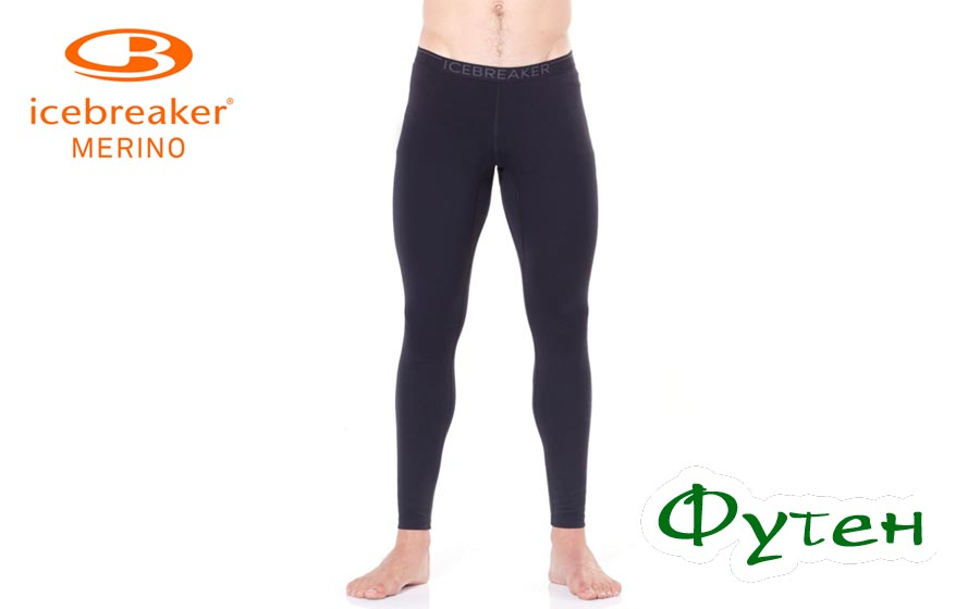 Icebreaker OASIS LEGGINGS MEN black/monsoon