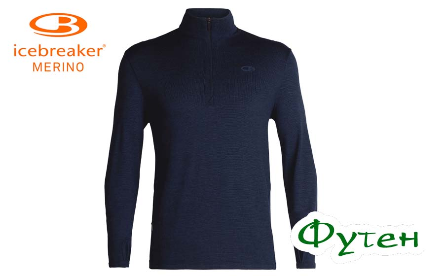 Пуловер Icebreaker ORIGINAL LS HALF ZIP MEN dk night heather