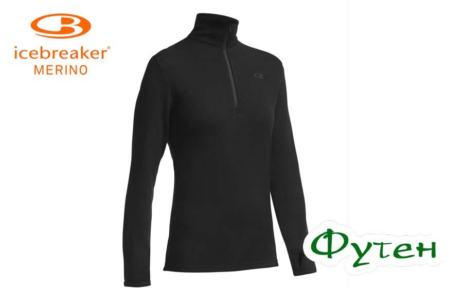 Пуловер IcebreakerORIGINAL LS HALF ZIP MEN black