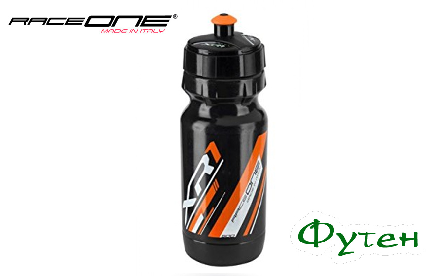 Фляга велосипедная RaceOne Bottle XR1 black/orange
