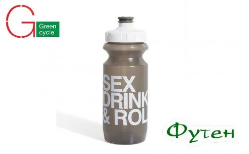 Велосипедная фляга Green Cycle Sex Drink & Roll