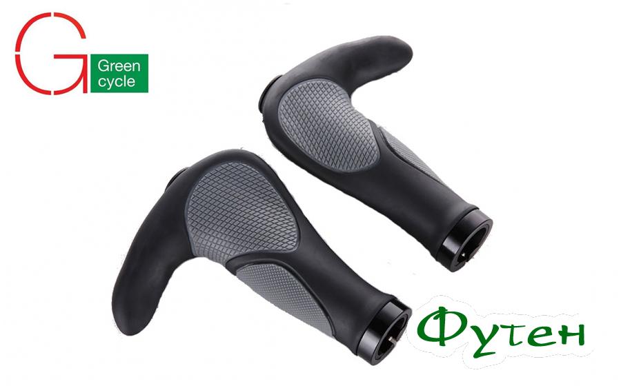 Грипсы с рогами Green Cycle GC-G232